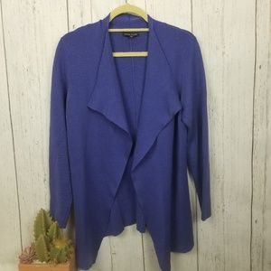Eileen Fisher purple cardigan size medium
